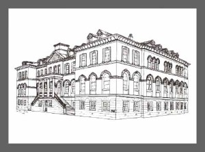 Drawing of Saint Rose Academy